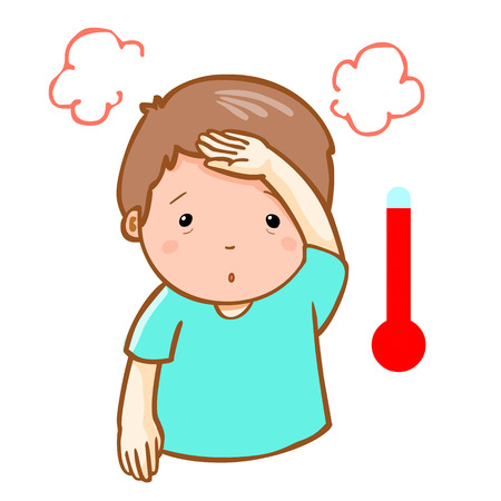 reflux: man got high temperature cause flu disease vector