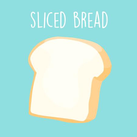 sliced: plain sliced bread icon vector illustration