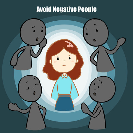 grumble: cartoon negative people should avoid vector