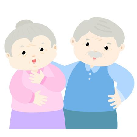 grandparent: Happy grandparent cartoon character vector illustration