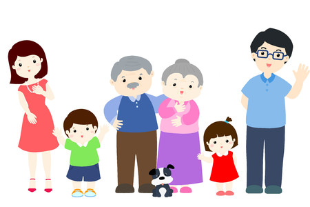 lively: cartoon of lively family character design illustration