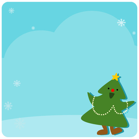 cute pinery at empty board vector illustration stock vector 63297603 - Pinery Christmas Trees