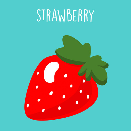Strawberry banana smoothie recipe vector illustration Illustration