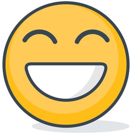 Isolated happy emoticon