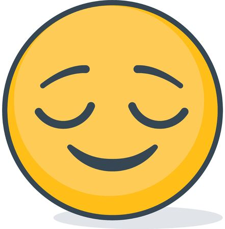 Isolated bliss emoticons. Isolated emoticons