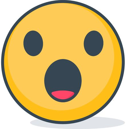 Isolated confused emoticon vector illustration