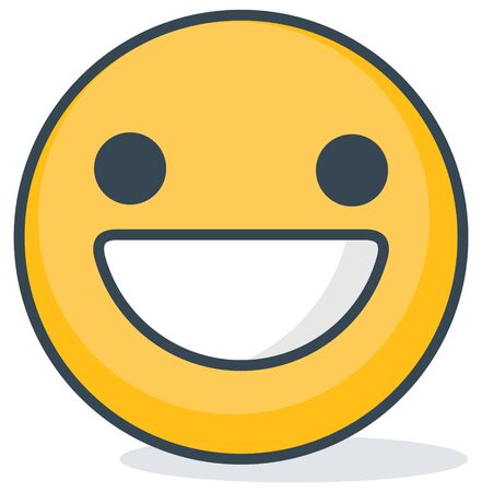 Isolated happy emoticon. Isolated emoticon.