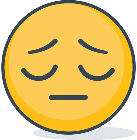 Isolated offended emoticon. Isolated emoticon. Illustration