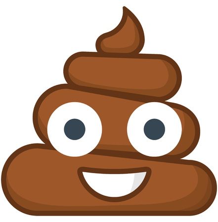 Isolated poo emoticon