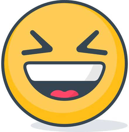 Isolated ridicule emoticon. Isolated emoticon.