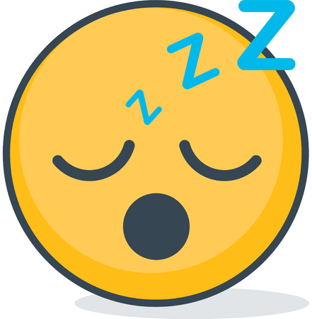 Isolated sleeping emoticon. Isolated emoticon.