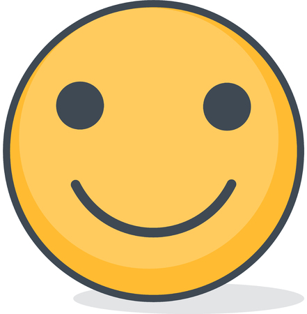 Isolated smiling emoticon. Isolated emoticon. Vectores