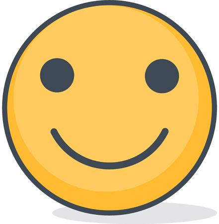 Isolated smiling emoticon. Isolated emoticon. Illustration