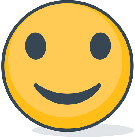 Isolated smiling emoticon. Isolated emoticon. Иллюстрация