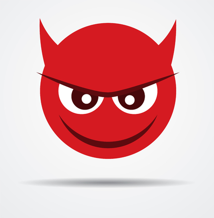 Isolated Devil emoticon in a flat design