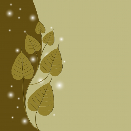 spiritual growth: Bodhi Tree (Sacred fig or Ficus religiosa) vector Illustration Illustration