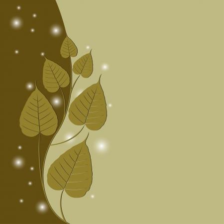 Bodhi Tree (Sacred fig or Ficus religiosa) vector Illustration Illustration
