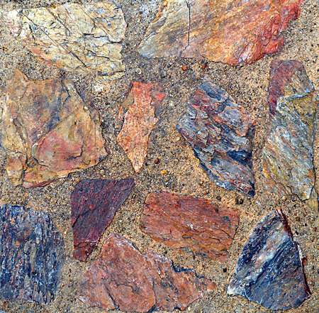 granite counter: stone background and texture geometric pattern Stock Photo