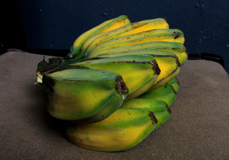 native ripe yellowgreen cooking banana one of the best filipino snacks long time ago...