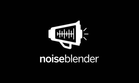 illustration logo from noise and blender logo design concept