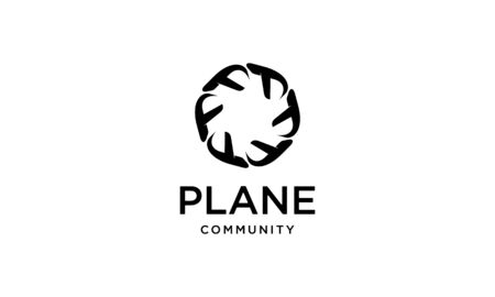 illustration  combination from plane with community  design concept
