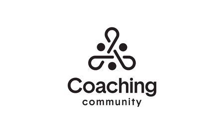 illustration logo from people teamwork or link community connection logo design concept