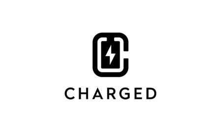 illustration logo combination from letter C with battery charged logo design concept Logó