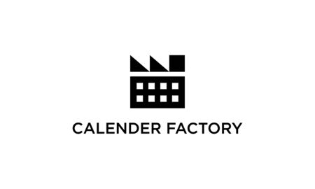 Combination logo from calendar with factory logo design concept