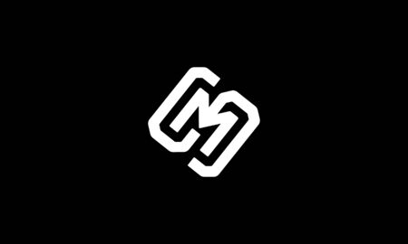 Two letter logo combination from letter S and M logo design concept