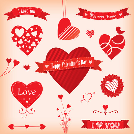 Love Banners and Labels Vector