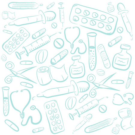 Hand Drawn Medical Background Vector
