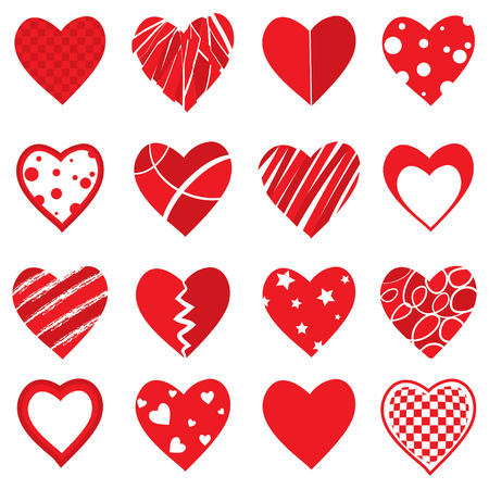 Vector Heart Shapes Vector