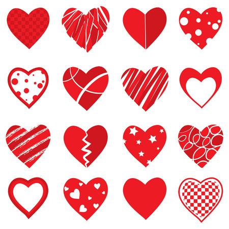 Vector Heart Shapes Banco de Imagens - 34889418