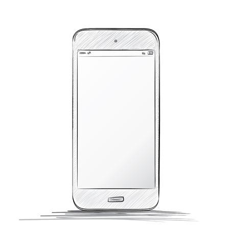 mobile phone  イラスト・ベクター素材