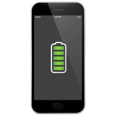 Mobile Phone - Full Battery  イラスト・ベクター素材