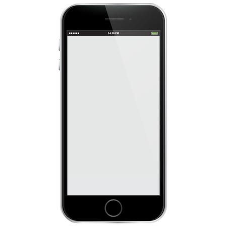 Realistic Vector Mobile Phone - Black Vettoriali