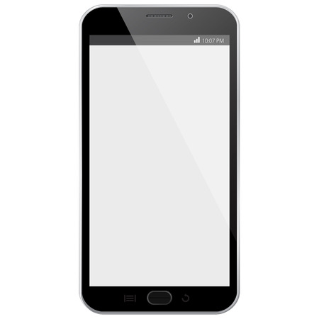 Vector illustration Black Mobile Phone
