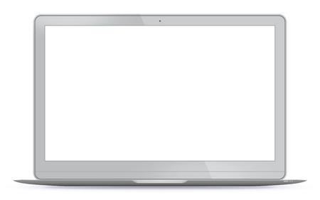 Modern Laptop Vector Illustration.