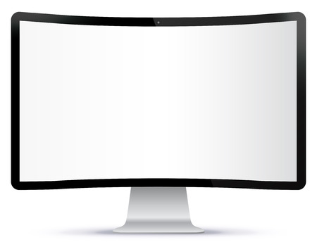 tv screen: Curved TV Screen Vector Illustration