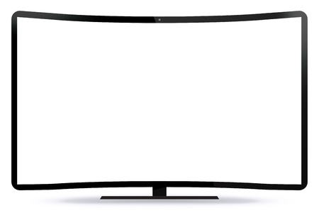 flat screen tv: Curved TV Screen Vector Illustration
