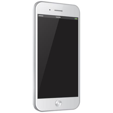 White Mobile Phone Vector illustration