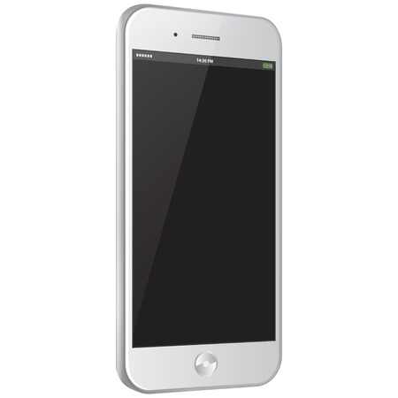 mobile application: White Mobile Phone Vector illustration