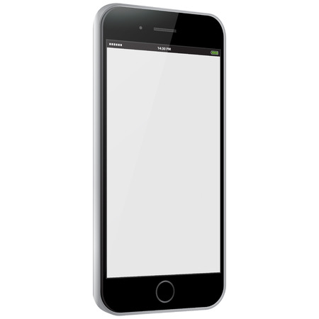 Black Mobile Phone Vector illustration
