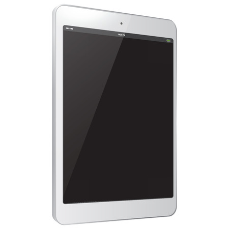 pc: White Tablet PC Vector Illustration
