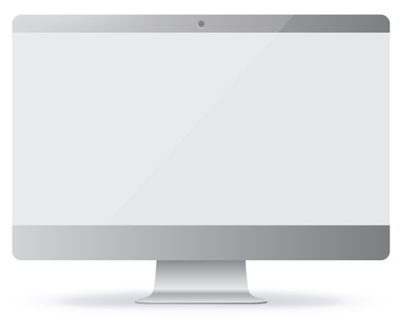 Computer Monitor Illustration.