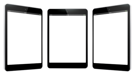 Black Tablet Computer Illustration isolated on white.