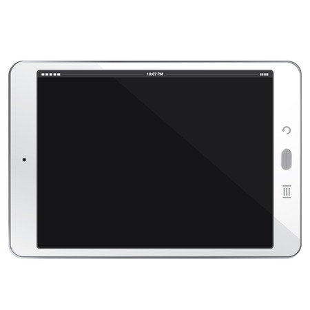 pc: White Horizontal Tablet PC Illustration
