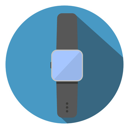 Smart Watch Flat Icon Vector Illustration