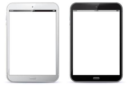 Zwart-wit vectorillustratie van de tablet-pc.