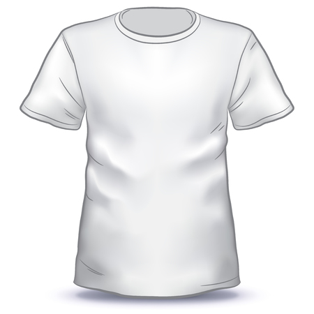 Hand Drawn T-shirt vector illustration isolated on white background
